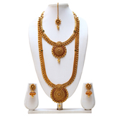 Craftsvilla Maroon Green Color Traditional Haram Necklace Set Maroon Green Color Traditional Haram Necklace Set