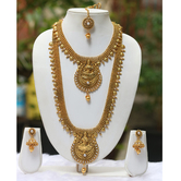 Craftsvilla Very Beautious White Colour Laxmi Haram Necklace Set With Earring