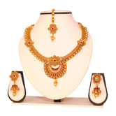 Craftsvilla Maroon Color Small Necklace Set