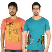 Bhimbetka Art T Shirt Combo 021 Hand Painted T Shirt