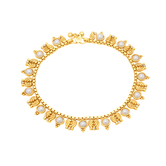Sukkhi Glittery Gold Plated Anklet For Women