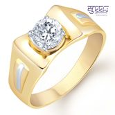 Sukkhi Gold And Rhodium Plated Solitaire Cz Ring For Men(126grk530) - Othermen\'sfashion By Sukkhifashion