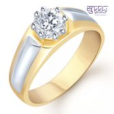 Sukkhi Gold And Rhodium Plated Solitaire Cz Ring For Men(133grk590) - Othermen\'sfashion By Sukkhifashion