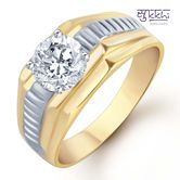 Sukkhi Gold And Rhodium Plated Solitaire Cz Ring For Men(130grk650) - Othermen\'sfashion By Sukkhifashion