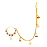 Sukkhi Youthful Gold Plated Nose Pin For Women