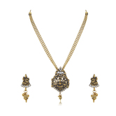 Craftsvilla Sleek Laxmi Oxidised Traditional Necklace Set For Women
