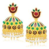 Sukkhi Artistically Gold Plated Jhumki Earring For Women
