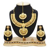 Craftsvilla Modish Temple Gold Plated Necklace Set For Women