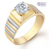 Sukkhi Gold And Rhodium Plated Solitaire Cz Ring For Men(128grk650) - Othermen\'sfashion By Sukkhifashion