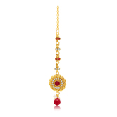 Sukkhi Shimmering Gold Plated Mangtikka For Women