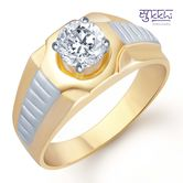 Sukkhi Gold And Rhodium Plated Solitaire Cz Ring For Men(125grk700) - Othermen\'sfashion By Sukkhifashion