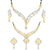 Sukkhi Luxurious Gold Plated Cz Set Of 2 Mangalsutra Set Combo For Women