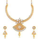Craftsvilla Astonishing Gold Plated Choker Necklace Set For Women
