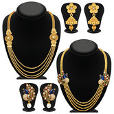 Craftsvilla Pretty 4 String Gold Plated Set Of 2 Necklace Set Combo For Women
