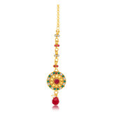 Sukkhi Gleaming Gold Plated Mangtikka For Women