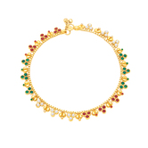Sukkhi Delightly Gold Plated Anklet For Women