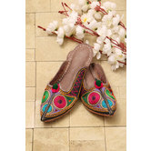 Embroidered Juttie - Rose Taupe Color