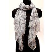 Wool Stole - White A...
