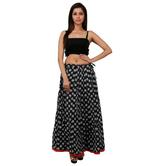 Beautiful Multicoloured Printed A-line Cotton Long Skirt