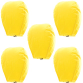 Kaarigar Amazing Set Of 5 Yellow Paper Made Sky Lanterns 505