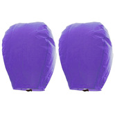 Kaarigar Set Of 2 Purple Paper Made Sky Lanterns 213