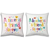 Sister N Brother Friend Forever Soft Cushions Pair 117