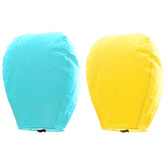 Kaarigar Yellow N Turquoise Set Of 2 Paper Made Sky Lanterns 209