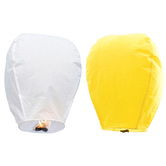 Kaarigar Yellow N White Set Of 2 Paper Made Sky Lanterns 210