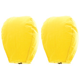 Kaarigar Amazing Set Of 2 Yellow Paper Made Sky Lanterns 204