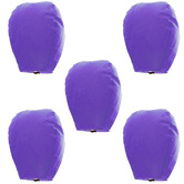 Kaarigar Set Of 5 Purple Paper Made Sky Lanterns 508