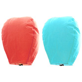 Kaarigar Peach N Turquoise Set Of 2 Paper Made Sky Lanterns 205