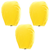 Kaarigar Amazing Set Of 3 Yellow Paper Made Sky Lanterns 305