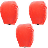 Kaarigar Amazing Set Of 3 Orange Paper Made Sky Lanterns 310