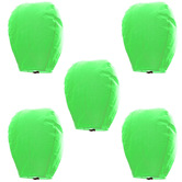 Kaarigar Beautiful Set Of 5 Green Paper Sky Lanterns 507