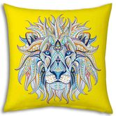 Little India Exclusive Lion Design Print Filled Cushion 959