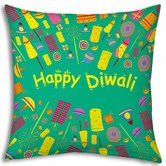 Little India Relationship Tree Printed Designer Blue Cushion 975