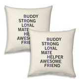 Printed Design Soft Fancy Cushions Pair For Brothers