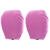 Kaarigar Set Of 2 Pink Color Paper Made Sky Lanterns 211