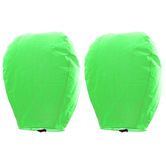 Kaarigar Beautiful Set Of 2 Green Paper Sky Lanterns 212