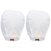 Kaarigar Set Of 2 White Paper Made Sky Lanterns 203