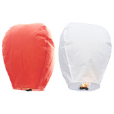 Kaarigar Peach N White Set Of 2 Paper Made Sky Lanterns 206