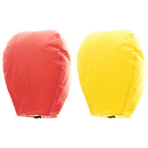Kaarigar Peach N Yellow Set Of 2 Paper Made Sky Lanterns 207