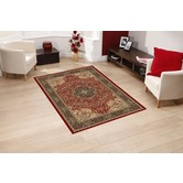 Presto Bazaar Red Colour Traditional Carpet (3 X 5 Feet)