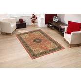 Presto Bazaar Orange Colour Traditional Carpet (3 X 5 Feet)