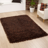 Presto Bazaar Brown Colour Solid Plain Carpet (4 X 6 Feet)