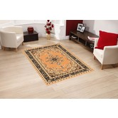 Presto Bazaar Gold Colour Traditonal Carpet (3 X 5 Feet)
