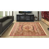 Presto Bazaar Orange Persian Silk Hand-made Carpet (2 X 6 Feet)