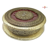 Attractive German Oxidized Round Gift Or Dry Fruit Box