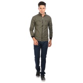 Nu Abc Garments Green Faux Leather Jackets For Mens