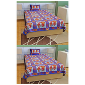 Hnd Pink Colour Single Bedsheet Combo With Pillow